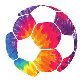 Soccer Ball Round Decal - Tie-Dye