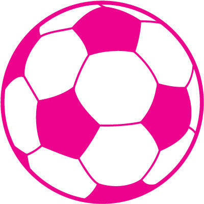 Soccer Ball Colored Round Decal