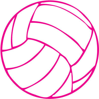 Volleyball Round Decal - Pink