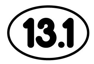 13.1 Small Oval Decal