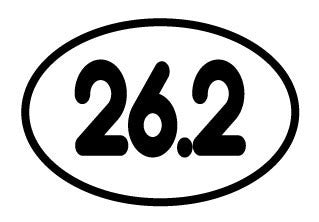 26.2 Small Oval Decal