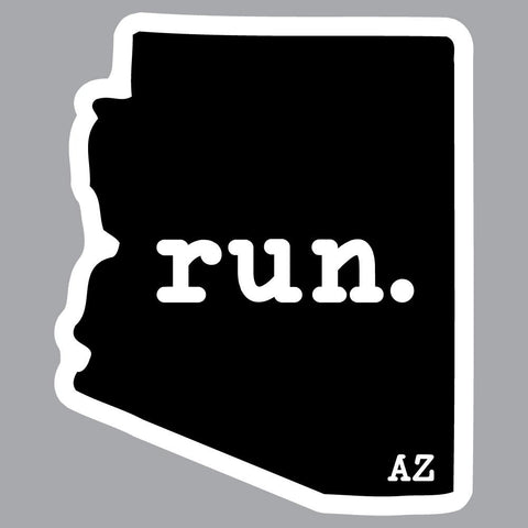 Run Arizona State Outline Decal