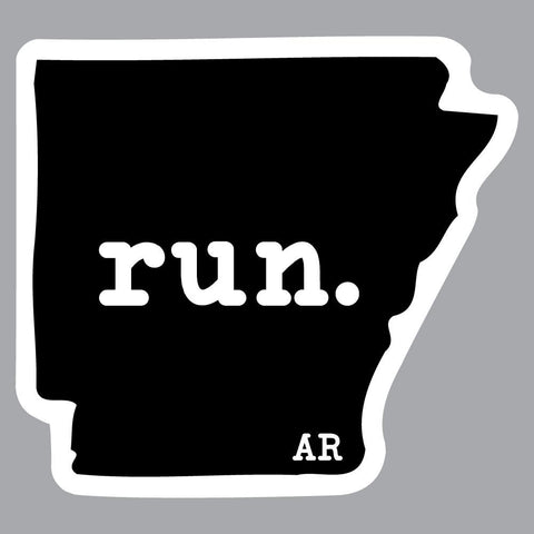 Arkansas Run State Outline Decal