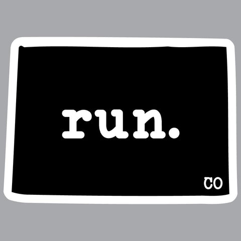 Colorado Run State Outline Decal