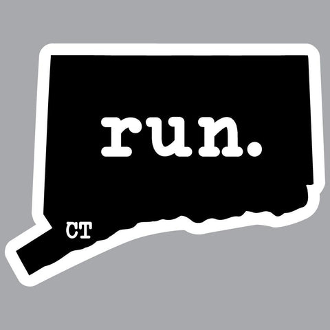 Connecticut Run State Outline Decal