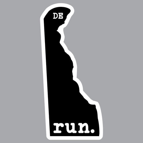 Delaware Run State Outline Decal