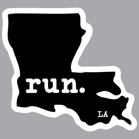 Louisiana Run State Outline Decal