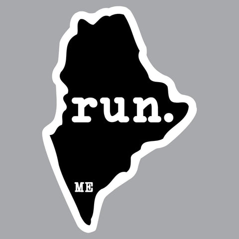 Maine Run State Outline Decal