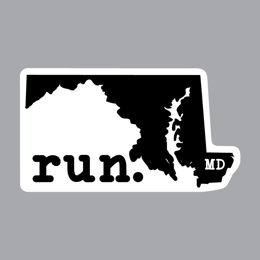 Maryland Run State Outline Decal