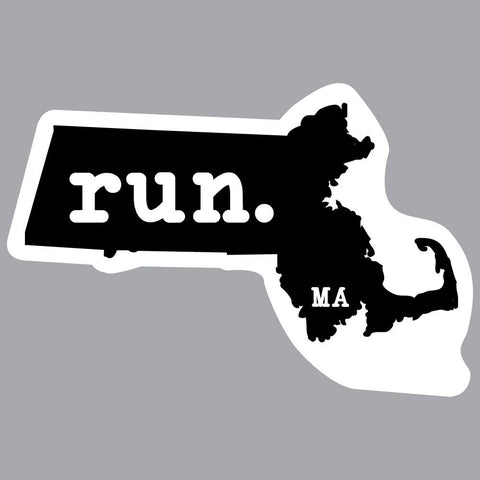 Massachusetts Run State Outline Decal
