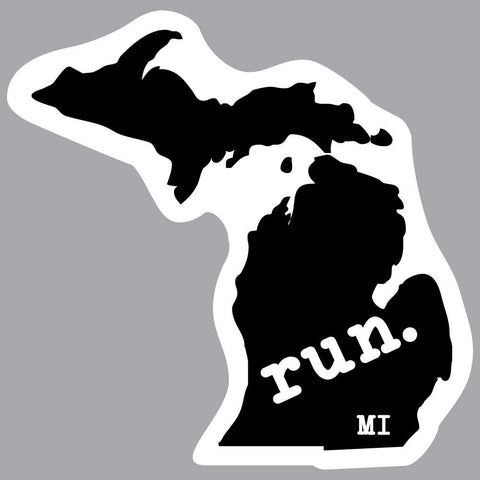 Michigan Run State Outline Decal