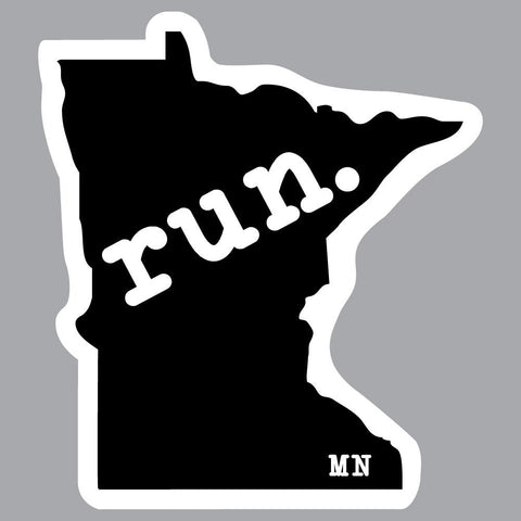 Minnesota Run State Outline Decal
