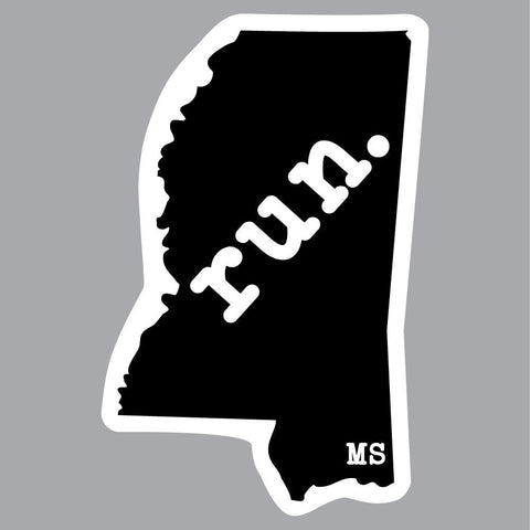 Mississippi Run State Outline Decal