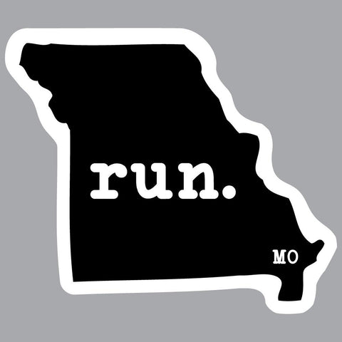 Missouri Run State Outline Decal