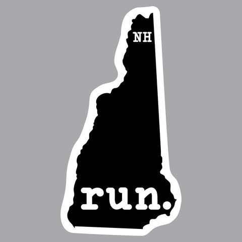 New Hampshire Run State Outline Decal