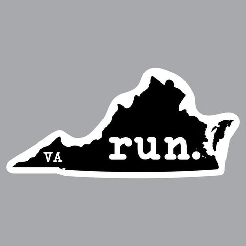 Virginia Run State Outline Decal