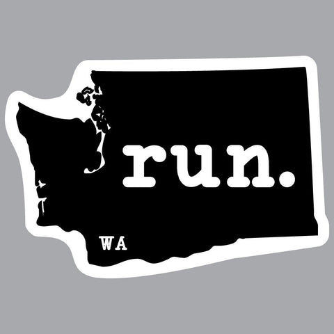 Washington Run State Outline Decal