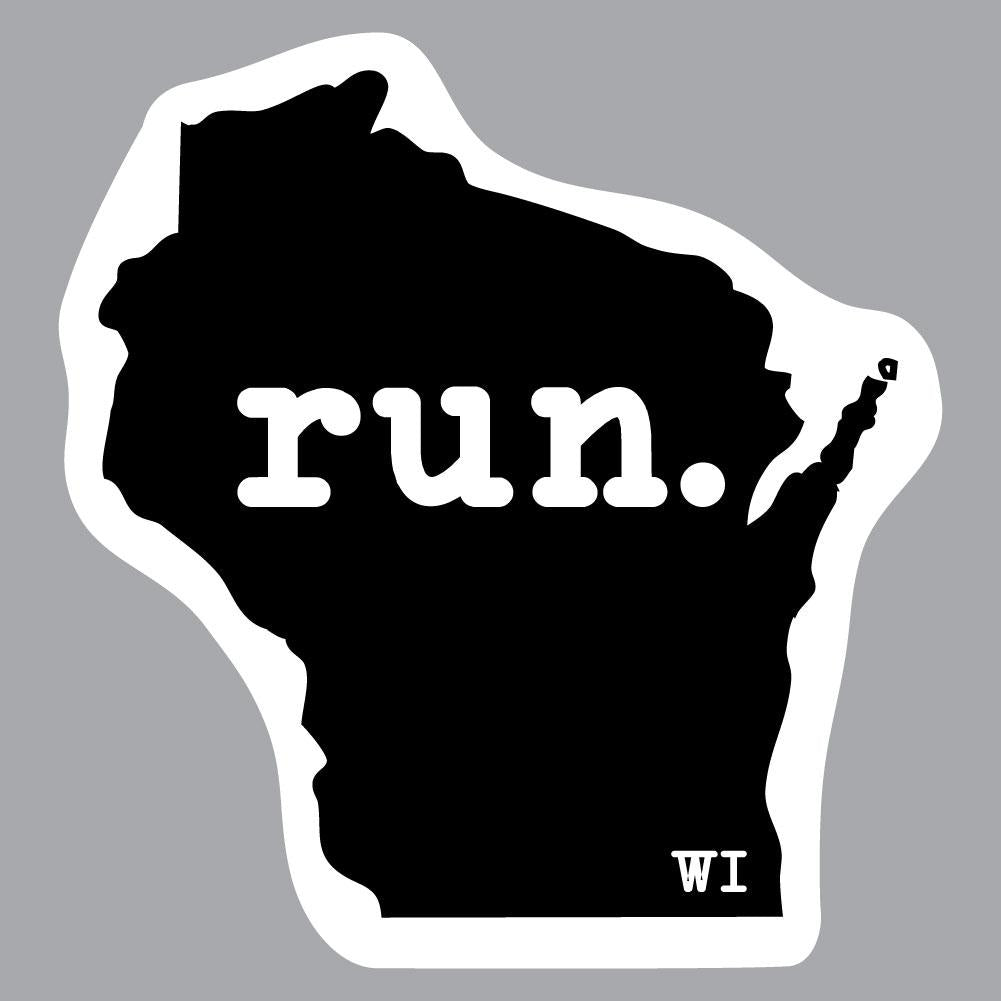 Wisconsin Run State Outline Decal