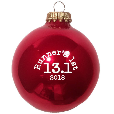 Christmas Ornament Runners First 13.1 2018 - Red
