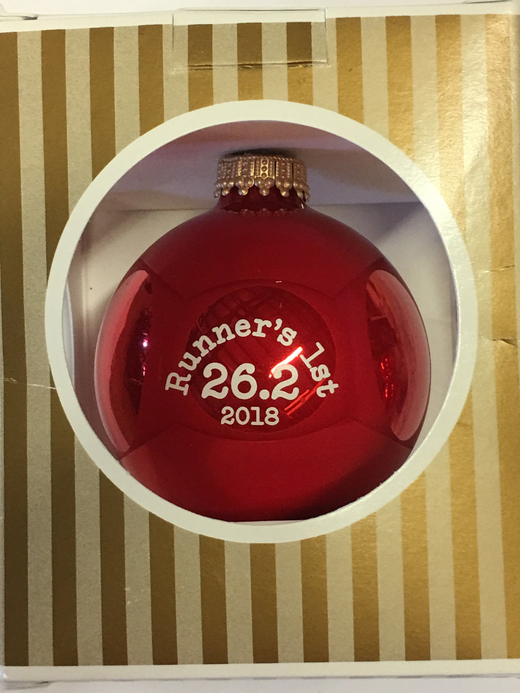 Christmas Ornament Runners First 26.2 2018 - Red