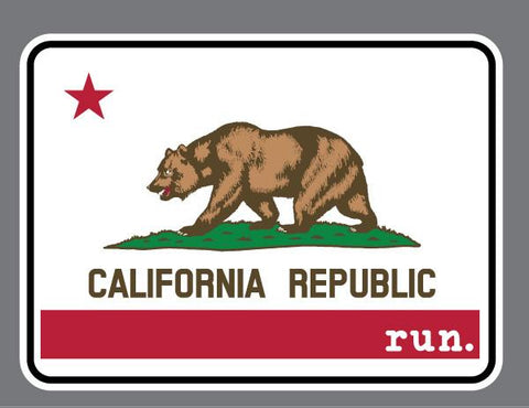 California Run State Flag Decal