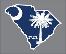 Load image into Gallery viewer, State Flag run. Outline Decal