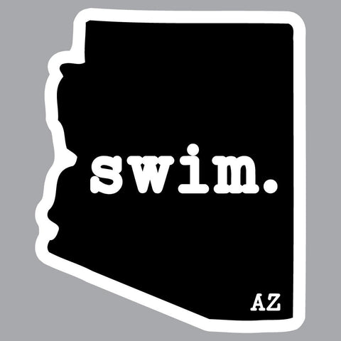 Arizona Swim State Outline Decal