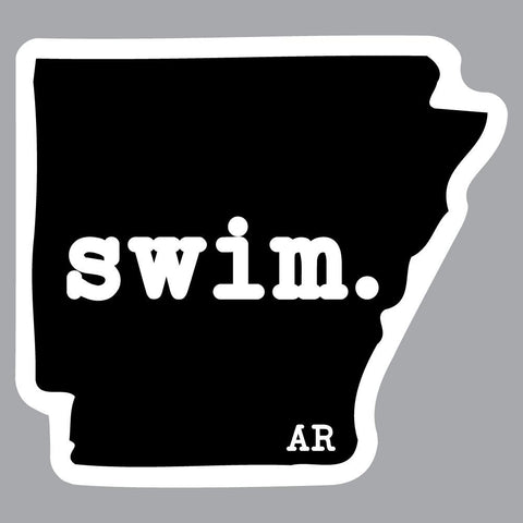 Arkansas Swim State Outline Decal
