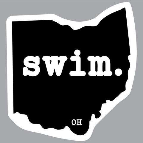 Ohio Swim State Outline Decal