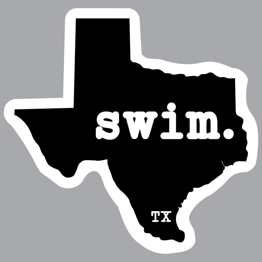Texas Swim State Outline Decal