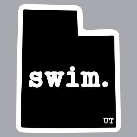 Utah Swim State Outline Decal