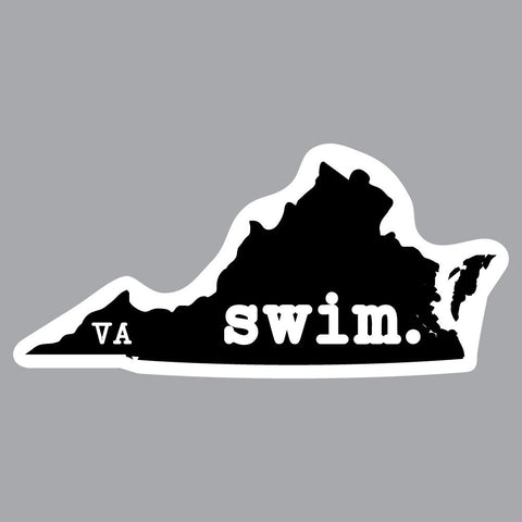 Virginia Swim State Outline Decal