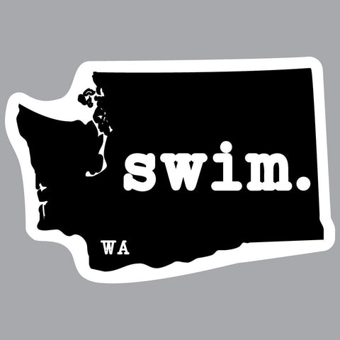 Washington Swim State Outline Decal