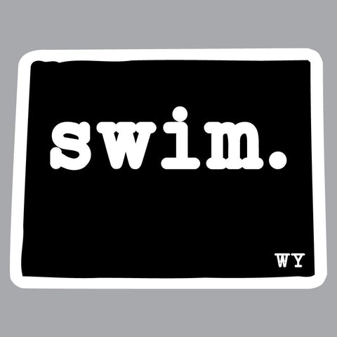 Wyoming Swim State Outline Decal