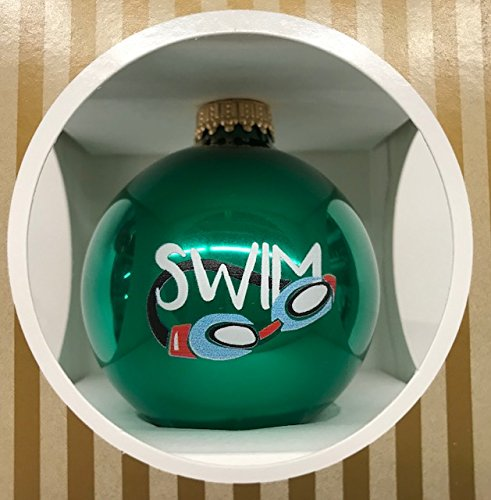 Swim Goggles Green Ornament