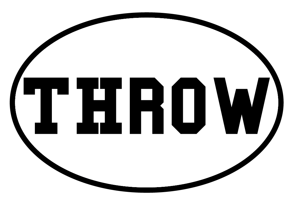 Throw Oval Decal