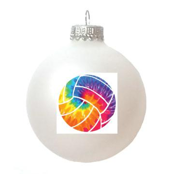 Christmas Ornament Volleyball Tie-Dye