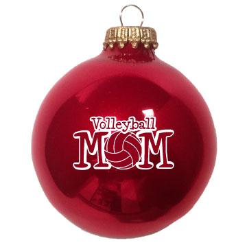 Christmas Ornament Volleyball Mom
