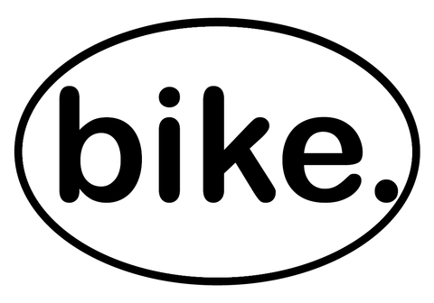 bike. Oval Decal