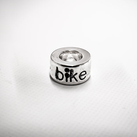 Bike Silver Plated Bead