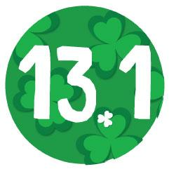 13.1 Round Decal - Shamrock Background(F)