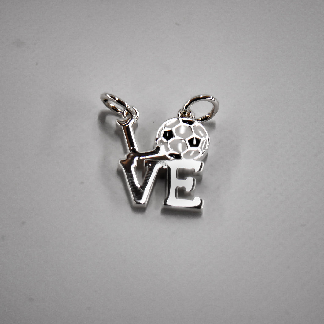 Soccer Theme Silver Plated Floating Charm