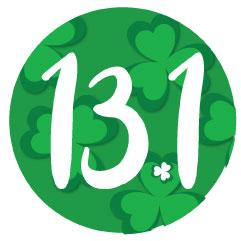13.1 Round Decal - Shamrock Background