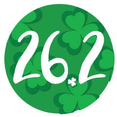 26.2 Round Decal - Shamrock Background