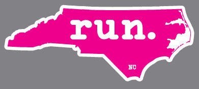 North Carolina State Outline Magnet - Pink