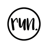 Run. Colored Round Decal (L) - 11 Colors Available