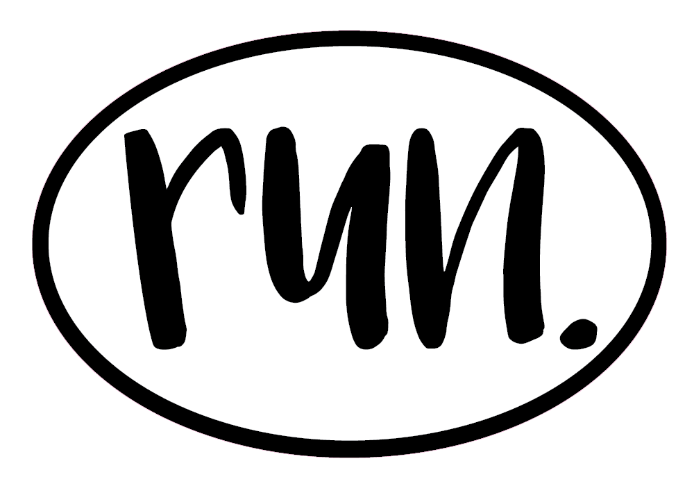 run. Colored Oval Decal (L)