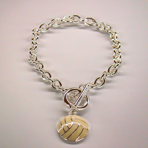 Volleyball Silver Plated Bracelet