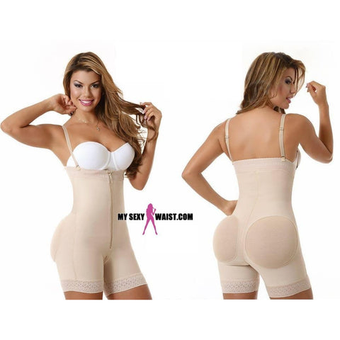 SHORT GIVE ME BODY-STRAPLESS-POWERNET-BODYSUIT W/COVERED BUTTLIFTER - The Mysexywaist.com Store