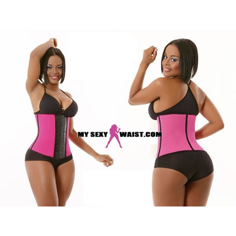 MYSEXYWAIST LONG PINK DIVA SPORT LATEX TRAINER - The Mysexywaist.com Store